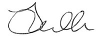 Jo Dolton's signature in black