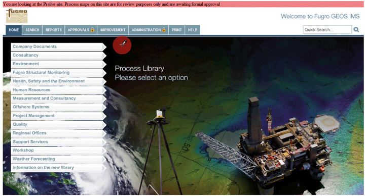 new process library with high res photos in the background with a red error message at the top