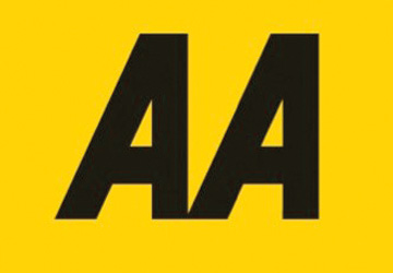 AA written in black on a yellow background