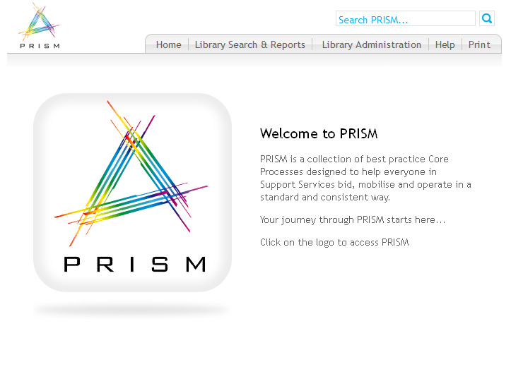 interserve's process library - PRISM -with a rounded square with a multicoloured A in it