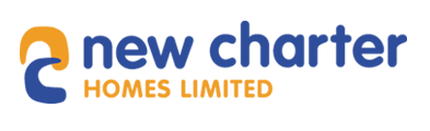 new charter written in blue with group written underneath in yellow on a white background
